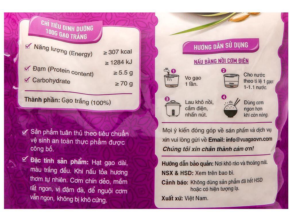 Gạo thơm Vua Gạo ST25 túi 5kg