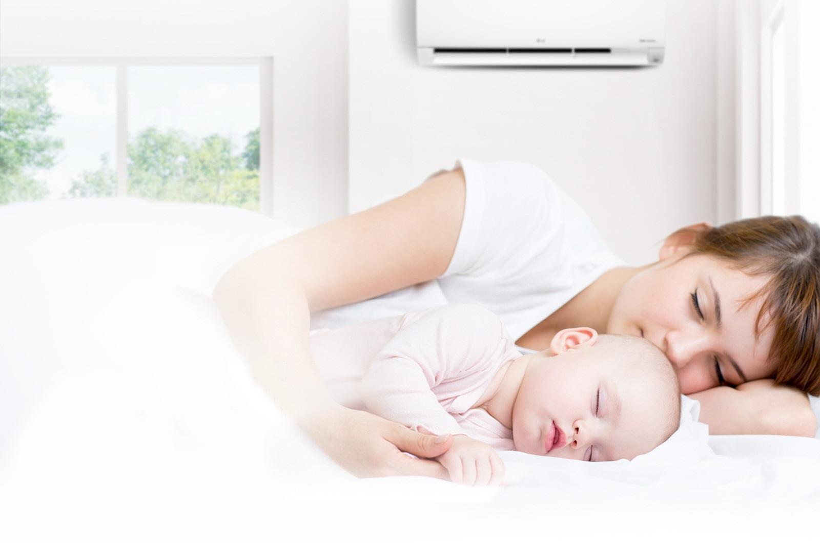 Hướng dẫn đặt chế độ điều hòa cho trẻ sơ sinh