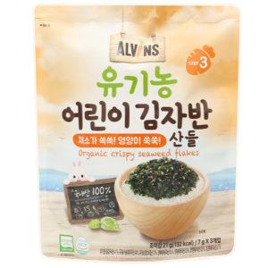 Rong biển rắc cơm hữu cơ Alvins vị rau củ gói 21g